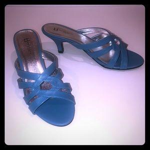 Shoes - Sky Blue little heel sandals